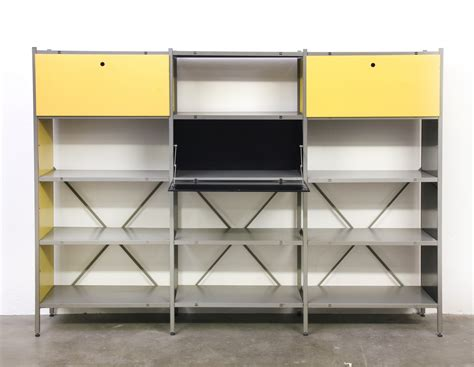 wohnzimmereinrichtung vintage model 663 wall unit by wim rietveld for gispen 1950s 55821