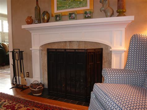 custom craftsman fireplace surround by homecoming