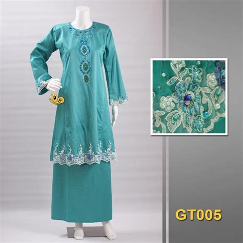 Baju Cotton Lace baju kurung satin cotton lace