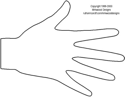 printable hand templates hand template new calendar template site