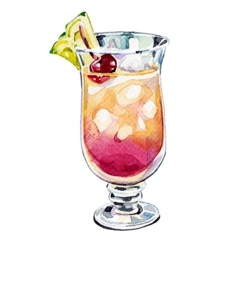 cocktail illustration holly exley cocktails for lonely planet new drawing