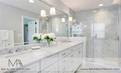 white marble bathrooms white master bathroom ideas master