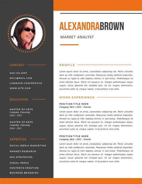 contoh cover letter graphic designer 25 best ideas about simple resume format on simple cv format best cv template and