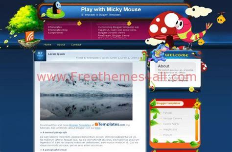blogger themes nature free blogger art nature jquery theme template freethemes4all
