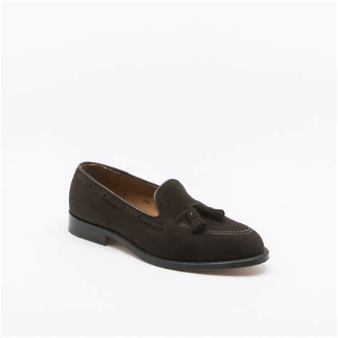 loafer suede alden 666 brown suede loafer