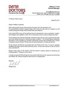 Letter Of Recommendation From A Doctor by Data Doctors Recommendation Letter