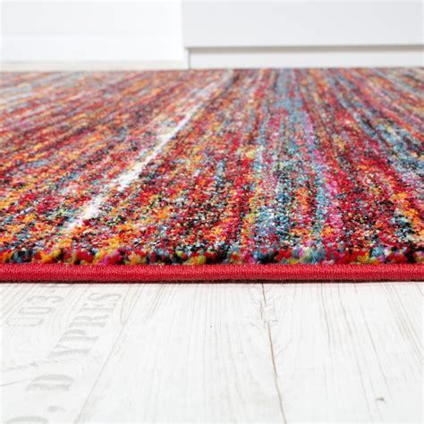 moderne teppich läufer tappeto moderno soggiorno screziato speciale colori rosso