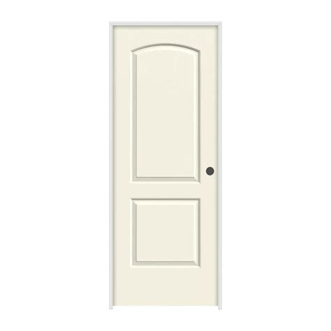 Jeld Wen Prehung Interior Doors Jeld Wen 32 In X 80 In Continental Vanilla Painted Left Smooth Molded Composite Mdf