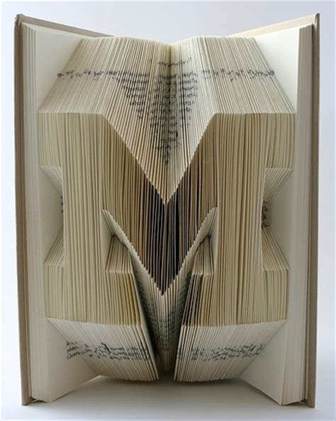 Paper Folding Books - book origami typography the ultimate inspiration bit rebels