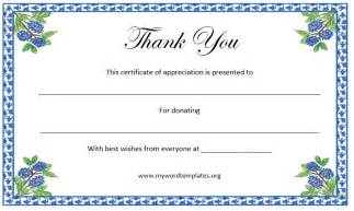 thank you certificate template microsoft word templates