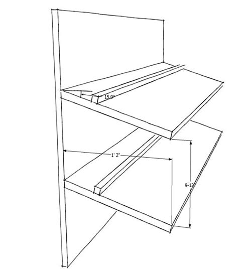pdf plans slanted shoe shelf plans plans building