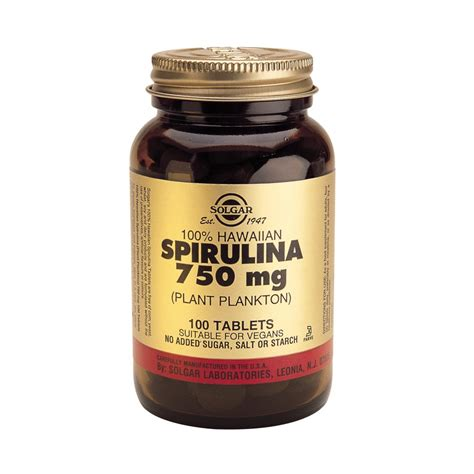 Spirulina Plus Tablet Asli 100 Original Green World Prod Berkualitas 1 solgar spirulina 750mg 100tbs vitamins from pharmeden uk