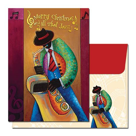 all that jazz african american christmas cards