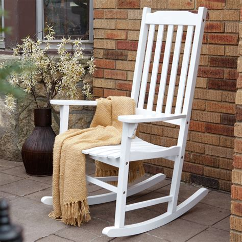 white outdoor rocking chair coral coast indoor outdoor mission slat rocking chair