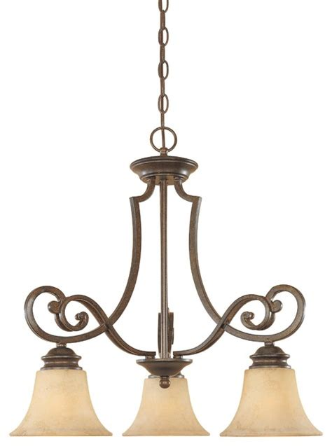 tuscan three light lighting chandelier transitional