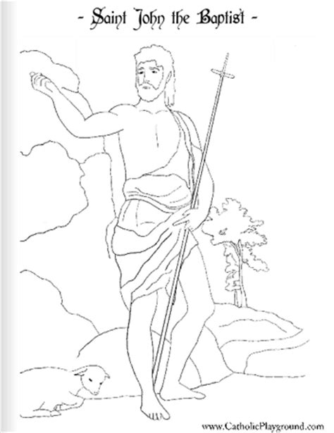 coloring pages of st john the baptist saint john the baptist coloring page june 24th catholic