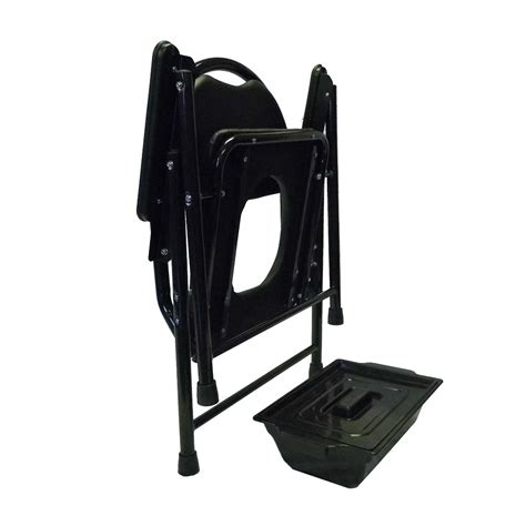 folding chairs padded seat and back folding commode chair with padded seat and back
