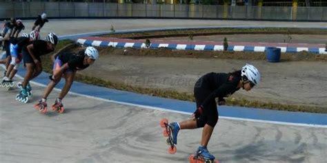 Sepatu Roda Atlet atlet malaysia ramaikan kejurnas sepatu roda bupati cup