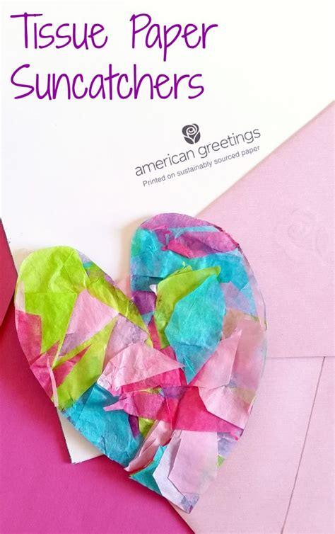 Tissue Paper Suncatcher Craft - tissue paper suncatchers