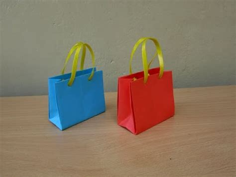 How To Make A Small Paper Bag - how to make a paper bag for gifts easy tutorials