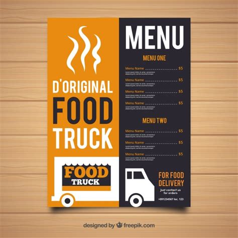 food truck menu template original food truck menu template vector free