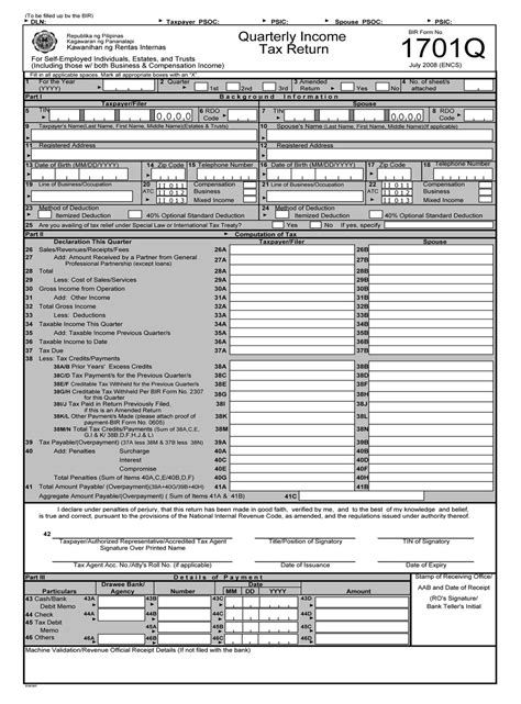 bir form 1701 new 2015 what are the taxes a small business needs to pay info