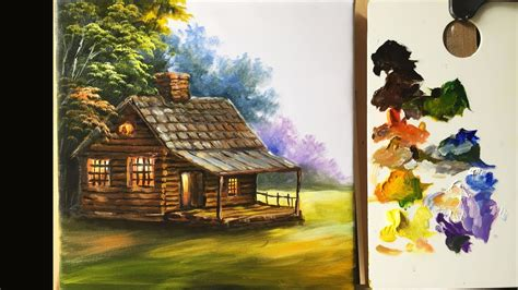 the cottage painting painting the basic house in acrylics lesson 1