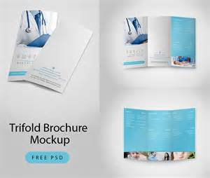 brochure mockup template free trifold brochure mockup free psd at