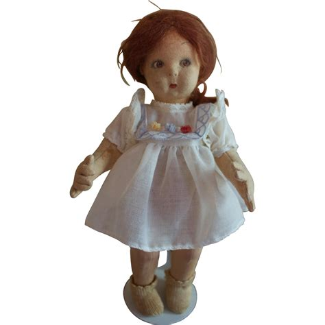 lenci doll adorable 11 inch felt lenci doll from northstarantiques on