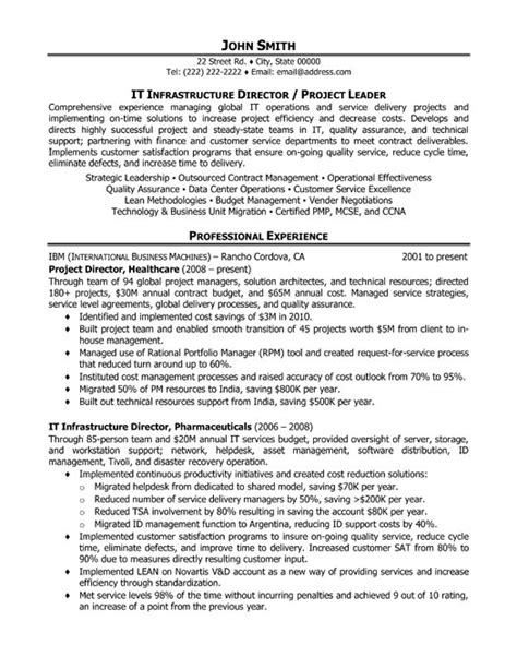 best resume format for operation manager top project manager resume templates sles
