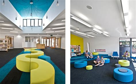 interior design schools in arkansas cool elementary library with blue color dominant