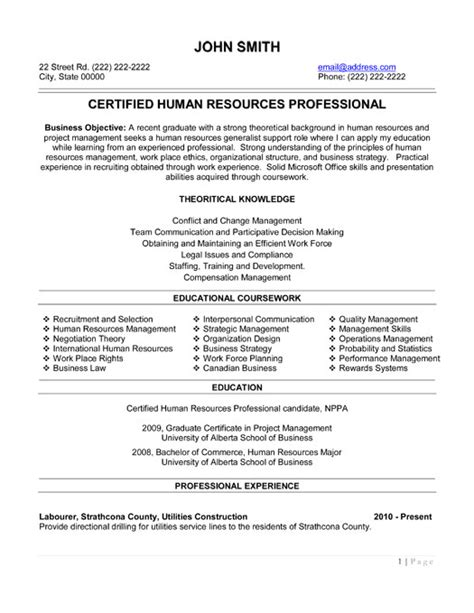 Resume Exles Human Resources Human Resources Professional Resume Template Premium