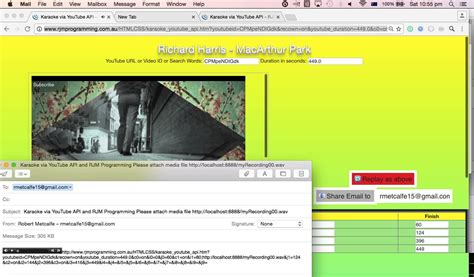 tutorial youtube api karaoke via youtube api in iframe email tutorial robert