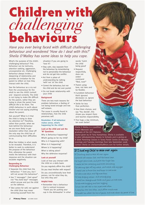 challenging behaviour children childrens challenging behaviour article p times