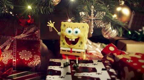 film animasi natal anak spongebob ucapkan selamat natal di video sponge out of