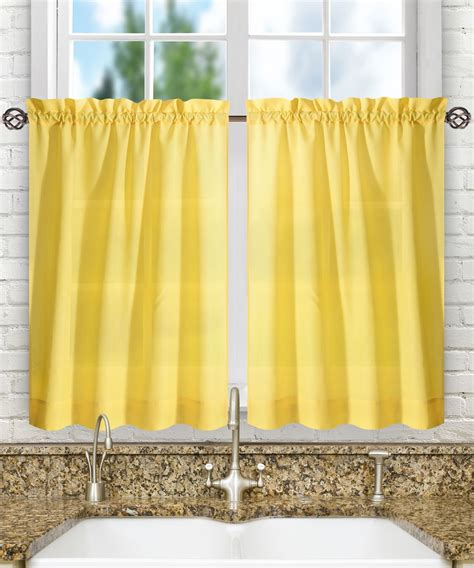 ellis curtains ellis curtain stacey tailored tier pair curtains 56 quot x 45