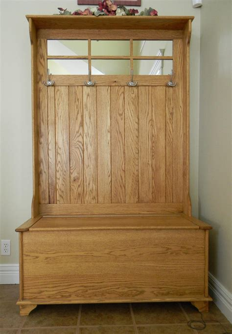 entry coat bench entryway bench coat rack with 4 double rack hook and oak
