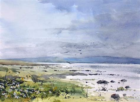 Landscape Artists Northern Ireland Lindisfarne By Northern Painter Grahame Booth