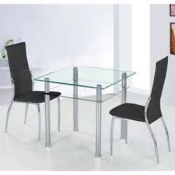 glass dining table and black chairs images