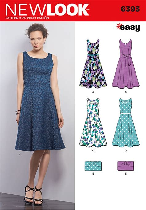 dress pattern of 2015 new look 6393 misses dresses and purse