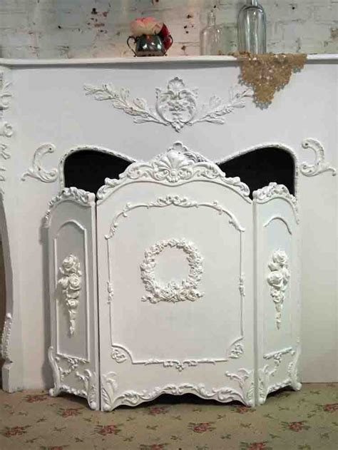 painted fireplace screen fireplace screen painted shabby chic