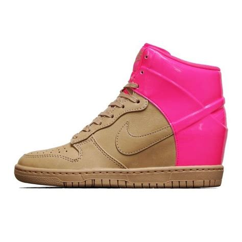 Sneakers Wedges Import Original Gold And Silver Best Seller dunk wedges pink and beige le qui marche terres d