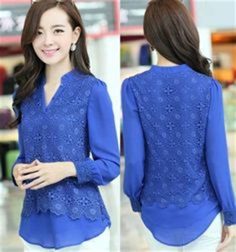 Korea Top Longsleeve Renda Blackk Wgset0161 1000 images about blusas on chiffon blouses