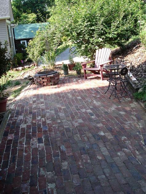 backyard brick patio reclaimed brick patio yard garden pinterest