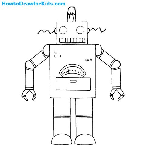 Drawing Robot by How To Draw A Robot For Howtodrawforkids