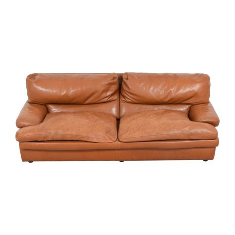 burnt orange leather sofa burnt orange leather living room