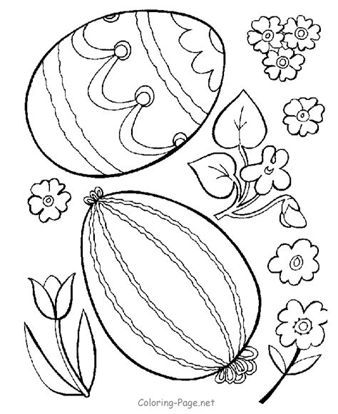coloring pages of easter flowers easter coloring page eggs and flowers