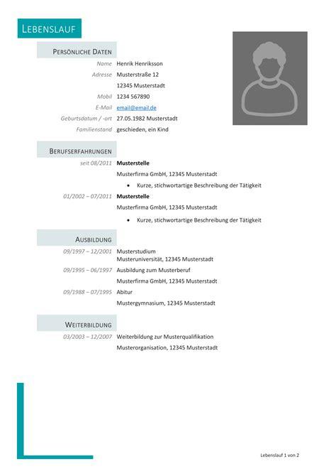 Vorlage Bewerbung Und Lebenslauf by Kostenlose Lebenslauf Muster Und Vorlagen F 252 R Deine