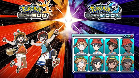 haircuts ultra sun pokemon ultra sun and ultra moon main characters revealed