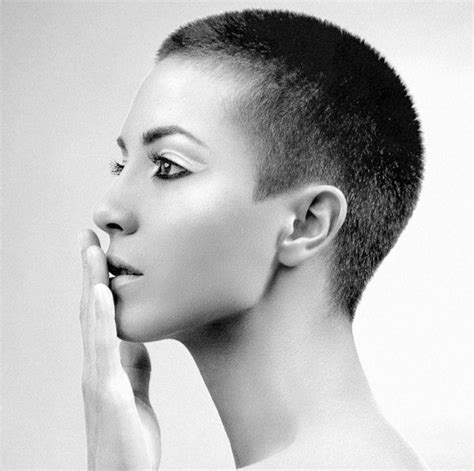 beautiful women hairstyle with sideburns a very beautifully done buzzcut very even and love the